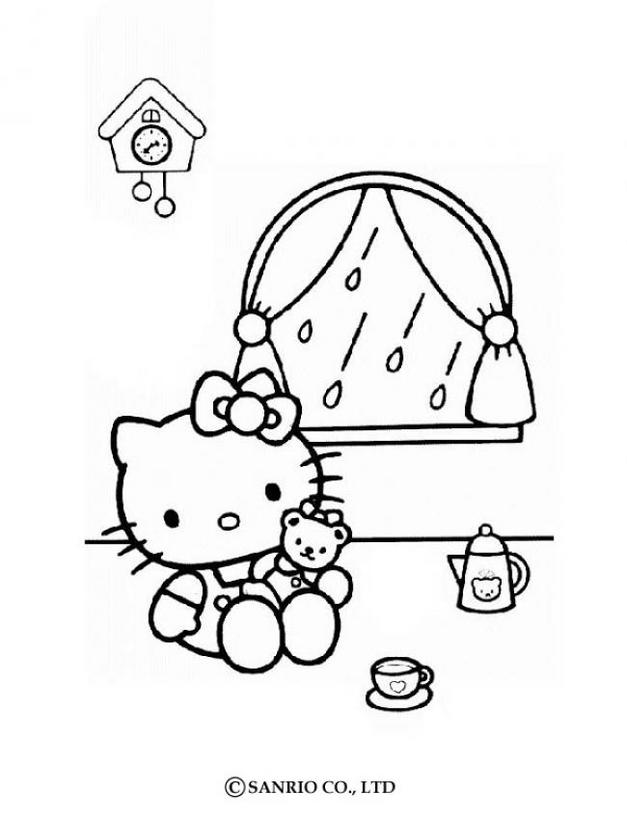 Hello kitty16 - Dibujo de Hello Kitty para imprimir