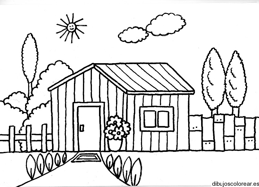 Dibujos de Casas para Colorear - Dibujos.net