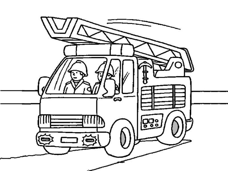 Dibujos De Camiones De Bomberos Para Colorear - AZ Dibujos para colorear