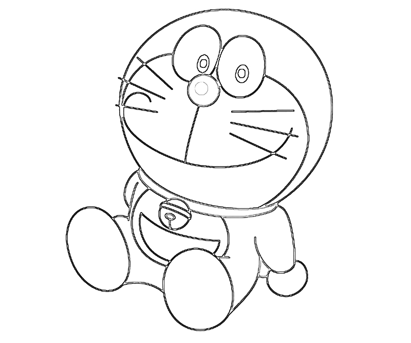 Doraemon Sit Coloring Pages Free : New Coloring Pages