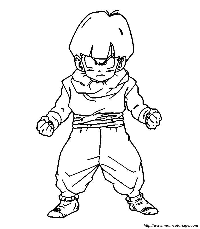 Colorear Dragon Ball Z, dibujo 021