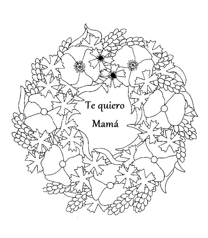 Tarjetas Del Dia De La Madre Para Colorear - AZ Dibujos para colorear