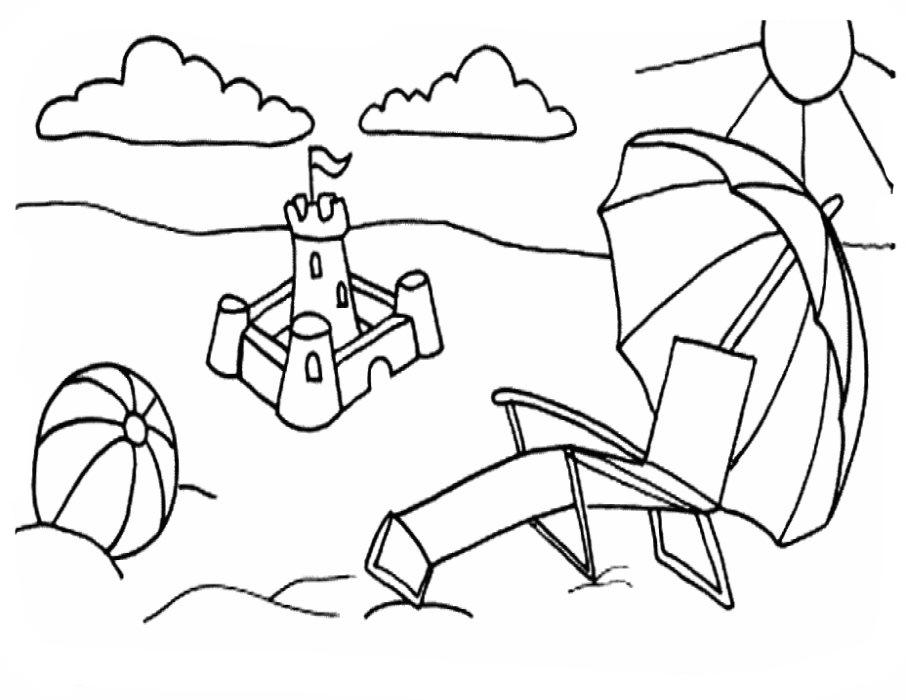 Dibujos Playa Para Colorear - AZ Dibujos para colorear