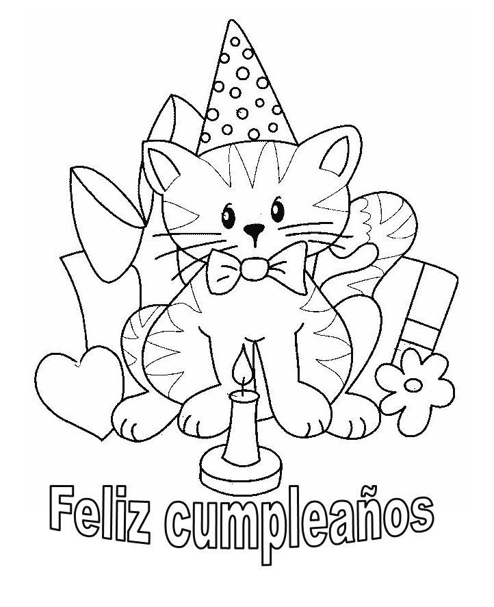 Tarjetas De Cumpleaños Para Imprimir Y Colorear - AZ Dibujos para ...