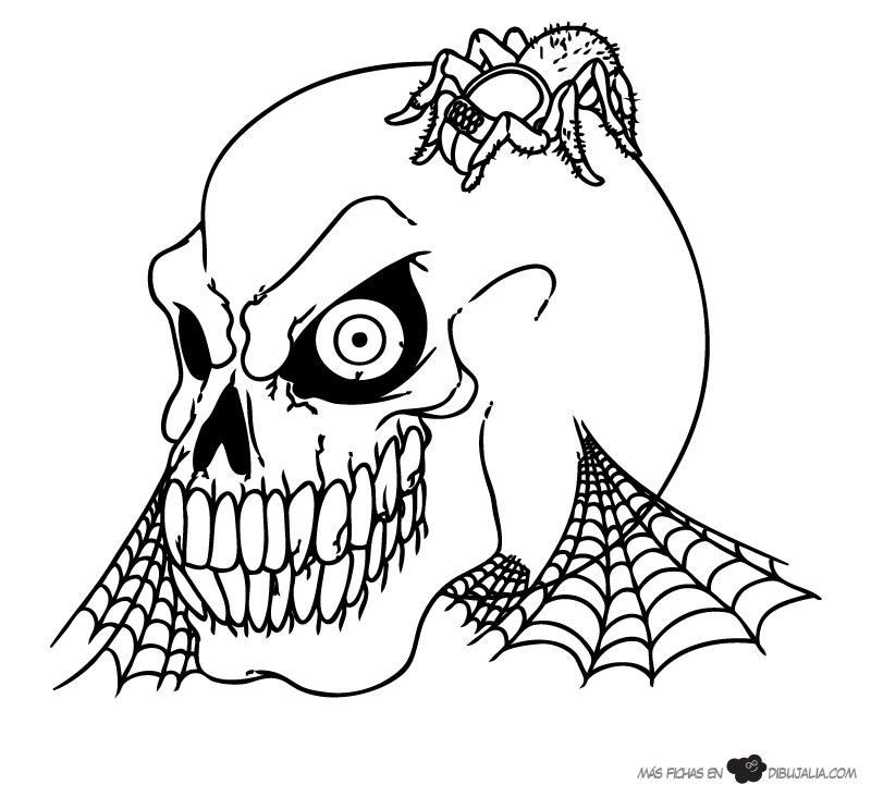 Dibujos Para Colorear De Halloween De Miedo   AZ Dibujos para colorear