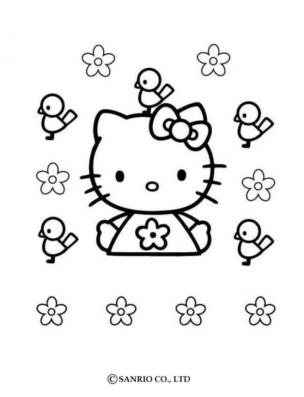 Hello kitty3 - Dibujo de Hello Kitty para imprimir