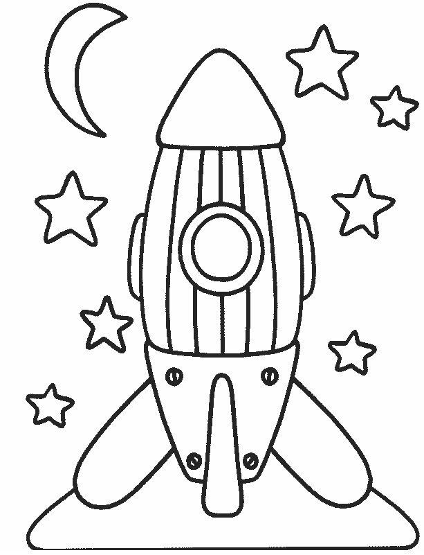 Cohete Para Colorear - AZ Dibujos para colorear