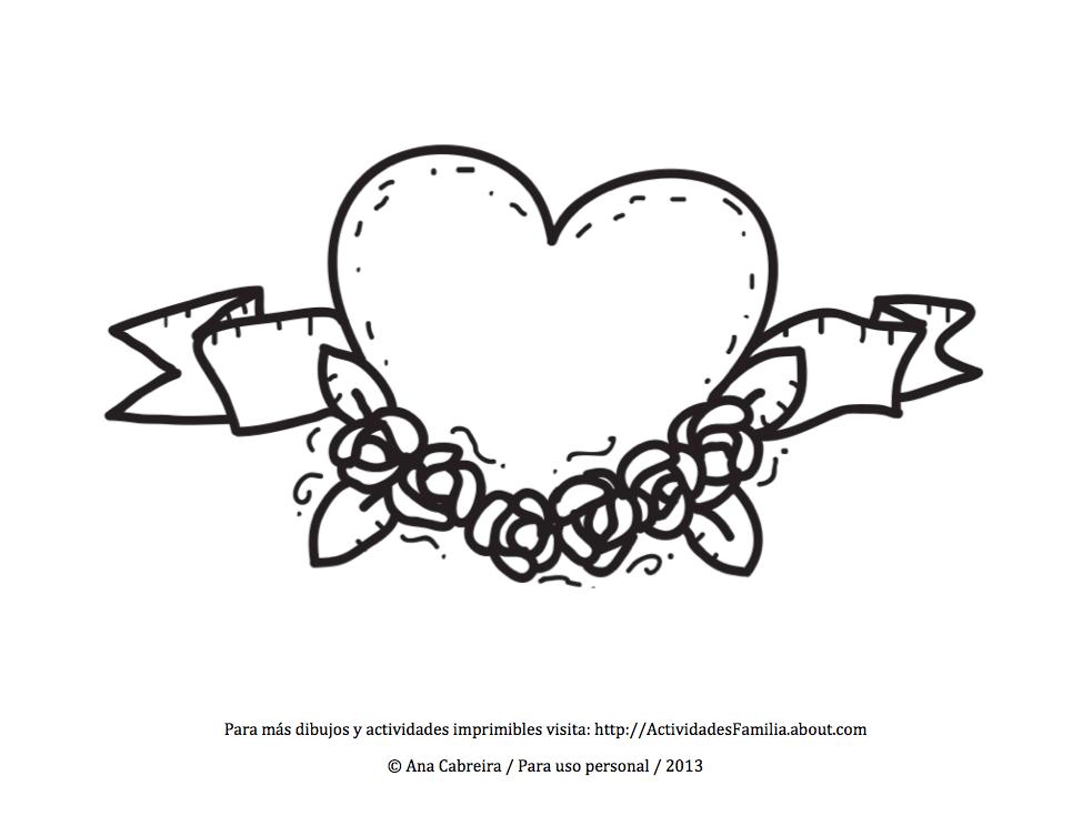 Excelente Corazón Para Colorear Páginas Para Imprimir Fotos ...