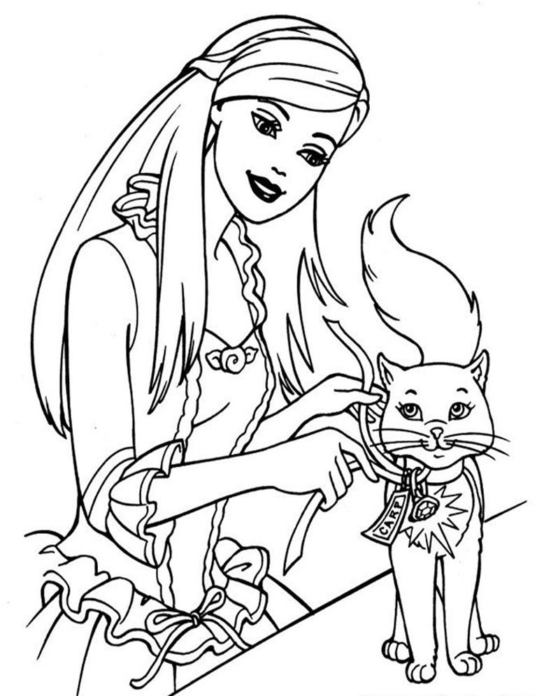 Online Barbie Coloring Pages