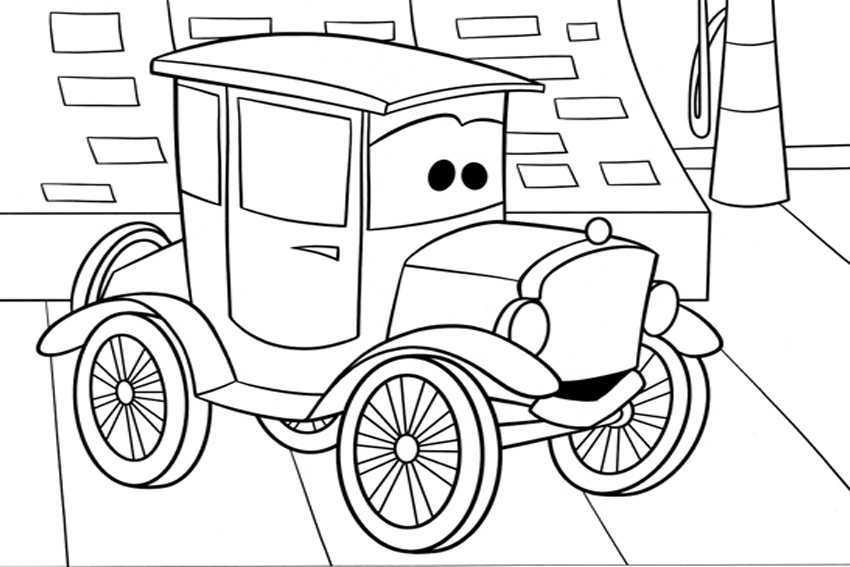 Coloring in cars coloring pages from the 2 movies made by Disney ...