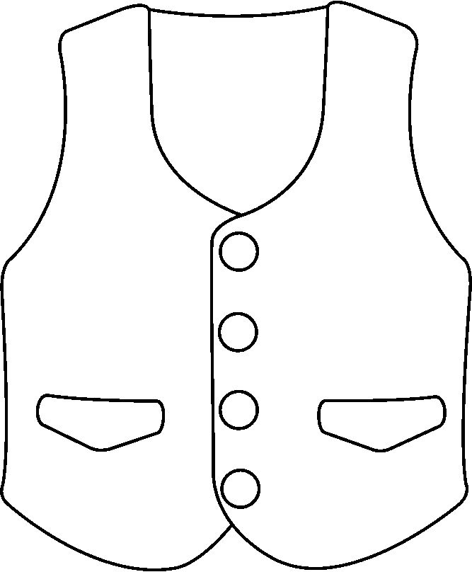 vest clip art black and white sketch coloring page