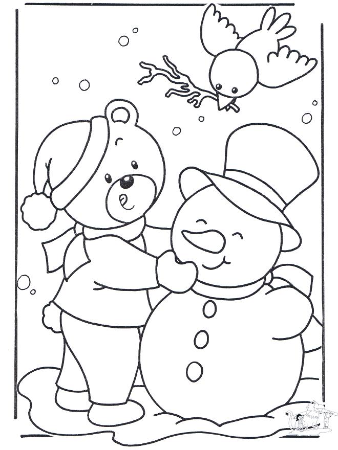 Dibujos Infantiles De Invierno - AZ Dibujos para colorear