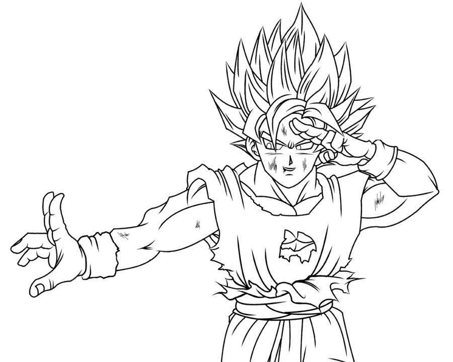 Vegeta Para Colorear Baby Para Goku Y Vegeta Para Pintar: Goku Ssj5 Para Pintar