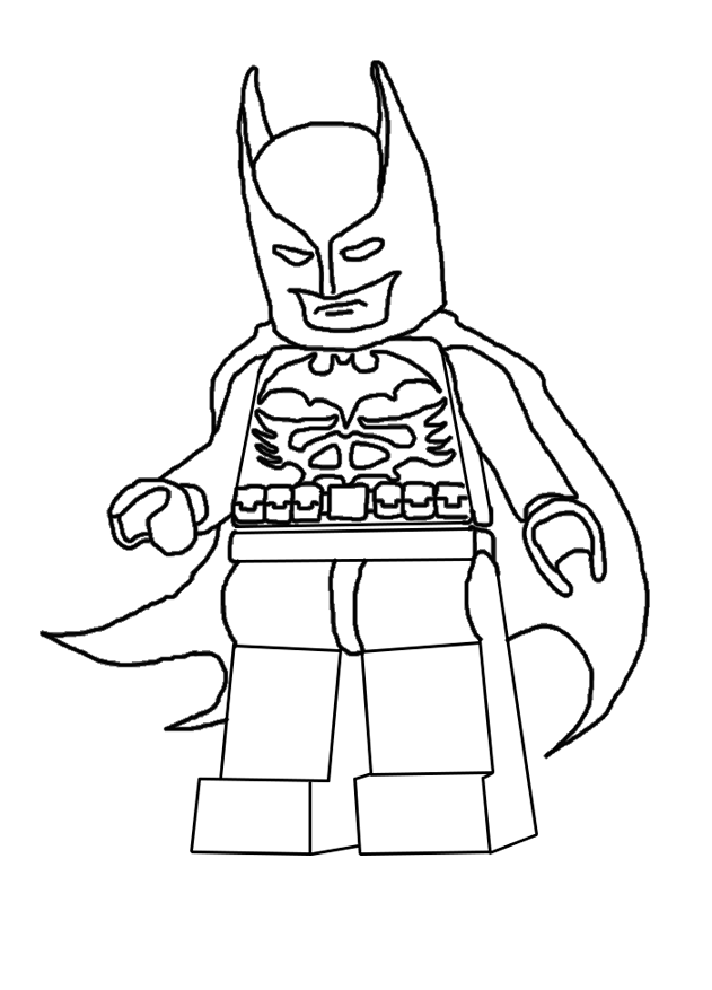 Free lego batman y robin coloring pages
