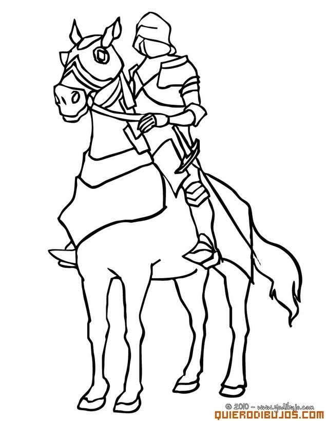 Dibujos Para Colorear Caballeros Medievales - AZ Dibujos para colorear