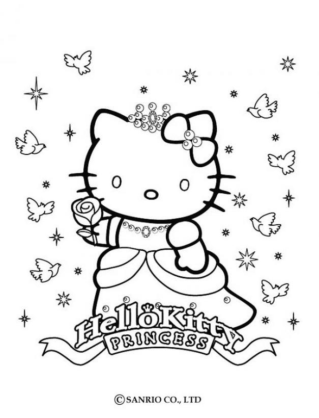 Hello kitty24 - Dibujo de Hello Kitty para imprimir