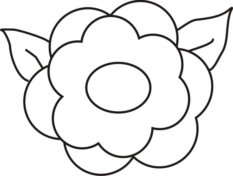 Flor Para Colorear Grande  AZ Dibujos para colorear