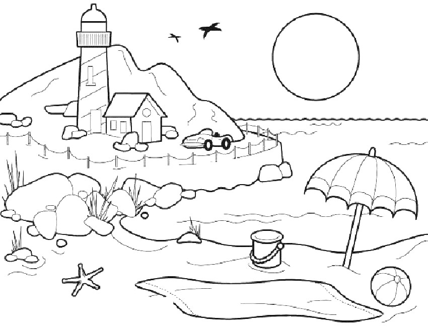 infantil ficha verano Colouring Pages (page 2)