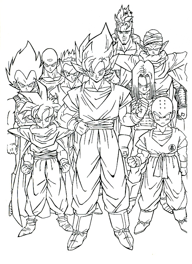 Dibujos Para Colorear Goku Fase 4 - AZ Dibujos para colorear