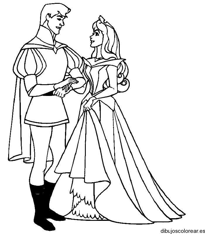 Principes Disney Para Colorear - AZ Dibujos para colorear