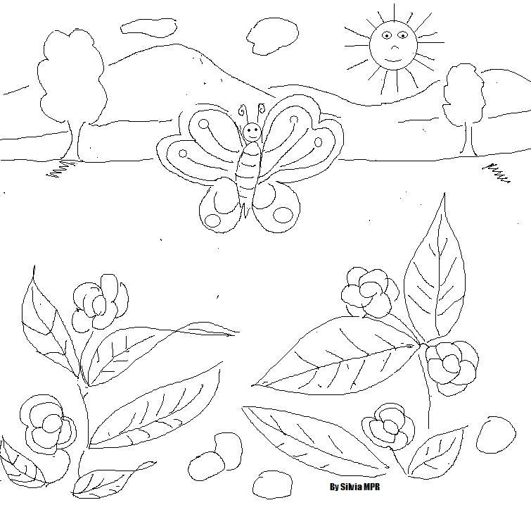 Flores De Primavera Para Colorear Az Dibujos Para Colorear