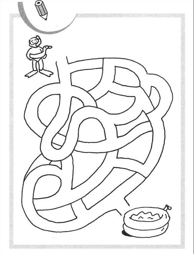 Laberintos Para Niños Para Imprimir - AZ Dibujos para colorear