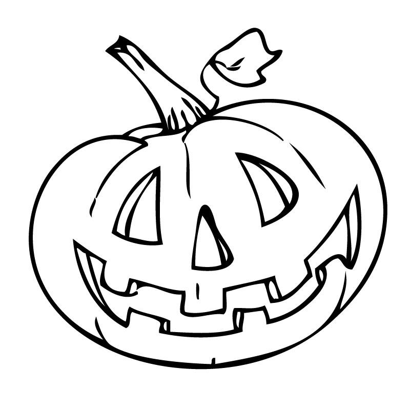 Calabaza De Halloween Para Colorear   AZ Dibujos para colorear