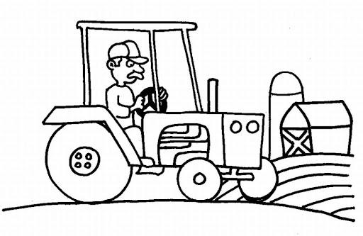 Tractores Para Colorear   AZ Dibujos para colorear
