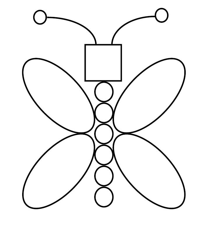 Kids Shapes Coloring Pages