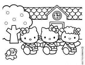 fotos de la hello kitty para colorear