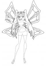 winx club enchantix para colorear