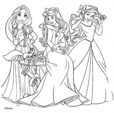 fotos de princesas disney para colorear