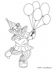 Clowns Coloring Page  clown with balloons  All Kids Network